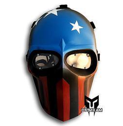 Airsoft Paintball BB Gun Fiberglass Protective Gear Helmet T