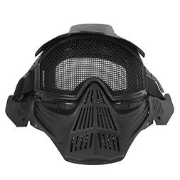 Richermall Tactical Airsoft Paintball Full Face Mask with Me