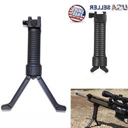 Tactical Bipod Foregrip Rifle Picatinny Hand Fore Grip Weave