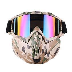 EKIND Tactical Paintball Mask, Retro Harley Motorcycle Goggl