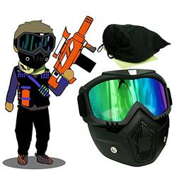 EKIND Tactical Paintball Mask | Motorcycle Goggles With Remo