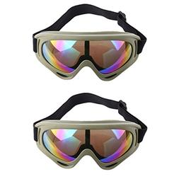 Tactical Protective Goggles, PeleusTech 2Pairs Face Mask for