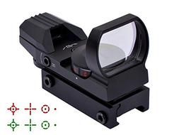 Fyland Tactical Red Dot Sight 4 Reticles Green and Red Refle