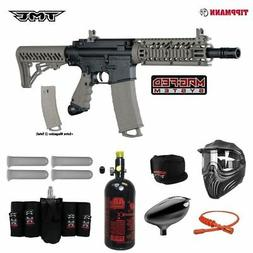Tippmann TMC MAGFED Elite HPA Paintball Gun Package - Black/
