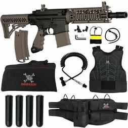 Tippmann TMC MAGFED Sergeant Paintball Gun Package - Black /
