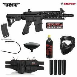Tippmann TMC MAGFED Silver Paintball Gun Package - Black/Bla