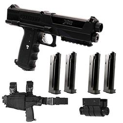 Tippmann TiPX Deluxe Paintball Pistol Kit Gun TPX 4 Clips Ho