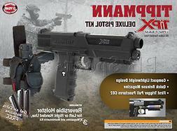 Tippmann TiPX .68 Caliber Deluxe Paintball Pistol Kit, Black