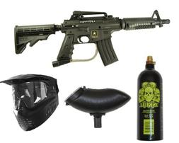 US ARMY Alpha Black Tactical Tippmann Paintball Gun Set