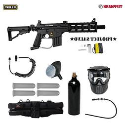 US Army Project Salvo Paintball Marker Gun 4+1 Mega Set + Re