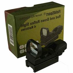 US! Field Sport Red and Green Reflex Sight with 4 Reticles,