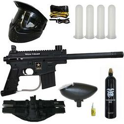 Used Tippmann US Army Project Salvo Paintball Gun+ New Tacti