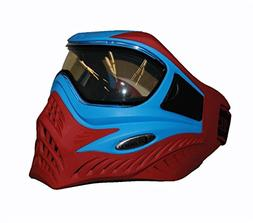 V-FORCE Grill Paintball Mask / Goggle - SE - Blue on Red