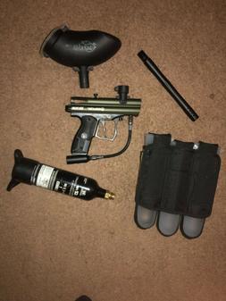 Spyder Victor Gray/Black Paintball gun bundle