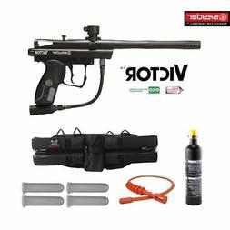 Spyder Victor Maddog 12oz CO2 Paintball Gun Marker Package
