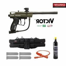Spyder Victor Maddog 12oz CO2 Paintball Gun Marker Package G