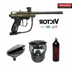 Spyder Victor Maddog Beginner CO2 Paintball Gun Marker Packa