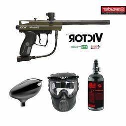 Spyder Victor Maddog Beginner HPA Paintball Gun Marker Packa