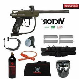 Spyder Victor Specialist Paintball Gun Marker Package Green