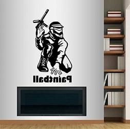 Wall Vinyl Decal Home Decor Art Sticker Paintball Player Spo